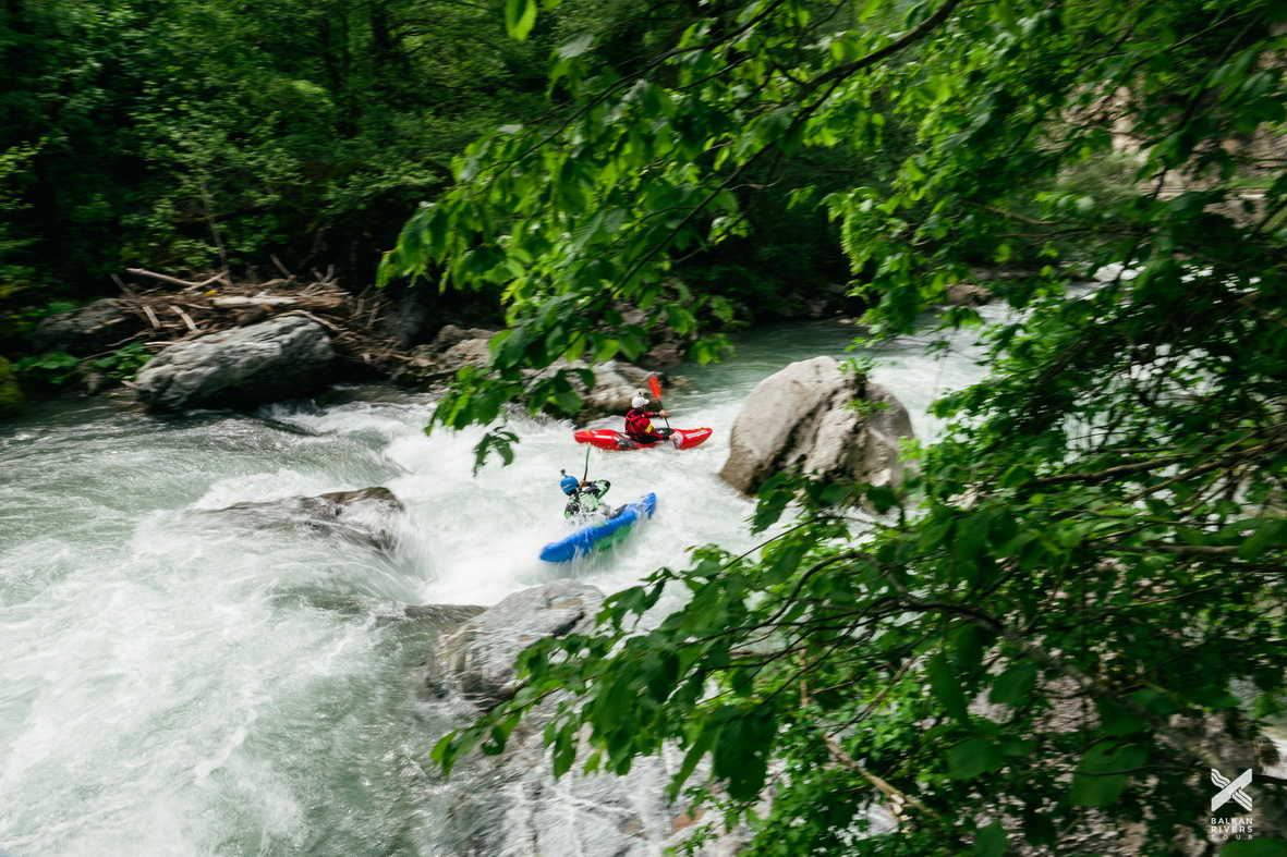 On May 4 and 5, the kayakers of the Balkan Rivers Tour paddled the threatened rivers Radika and Mala reka inside Mavrovo National Park © Jan Pirnat