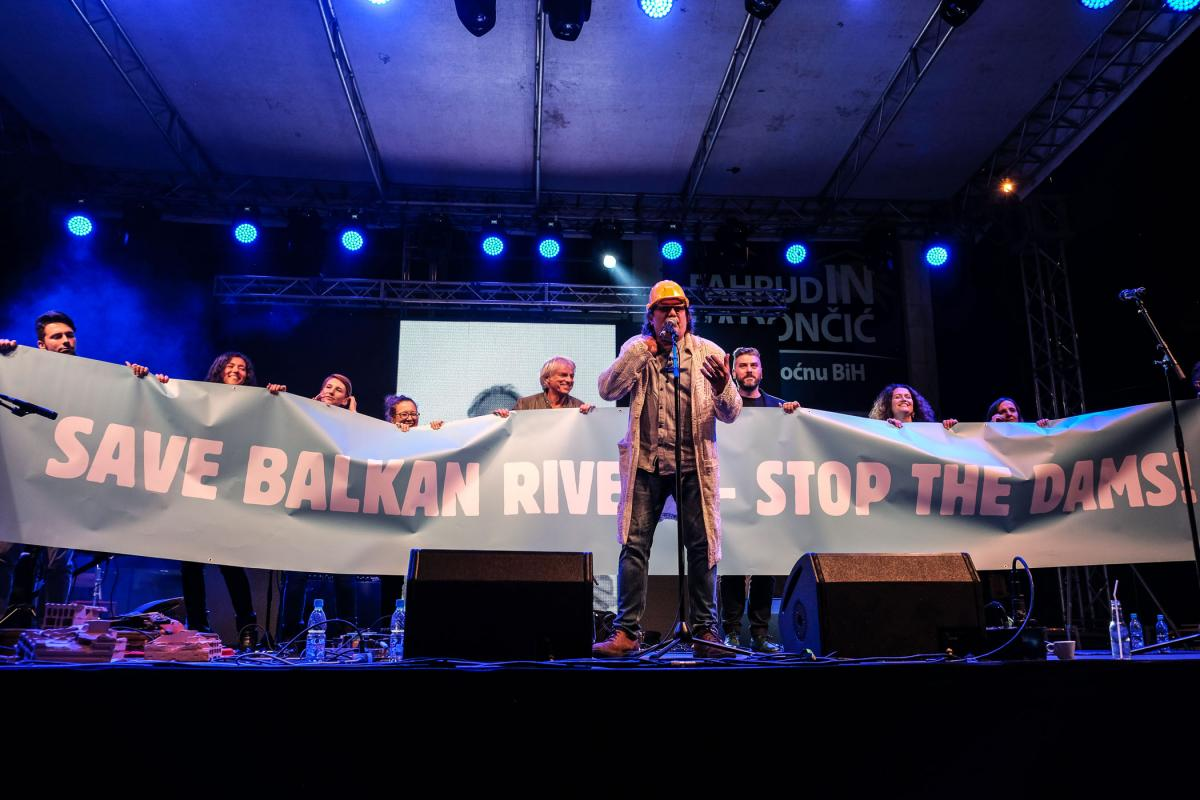 "The concert was held under the slogan ""Save Balkan Rivers – Stop the Dams"" © Nick St. Oegger"