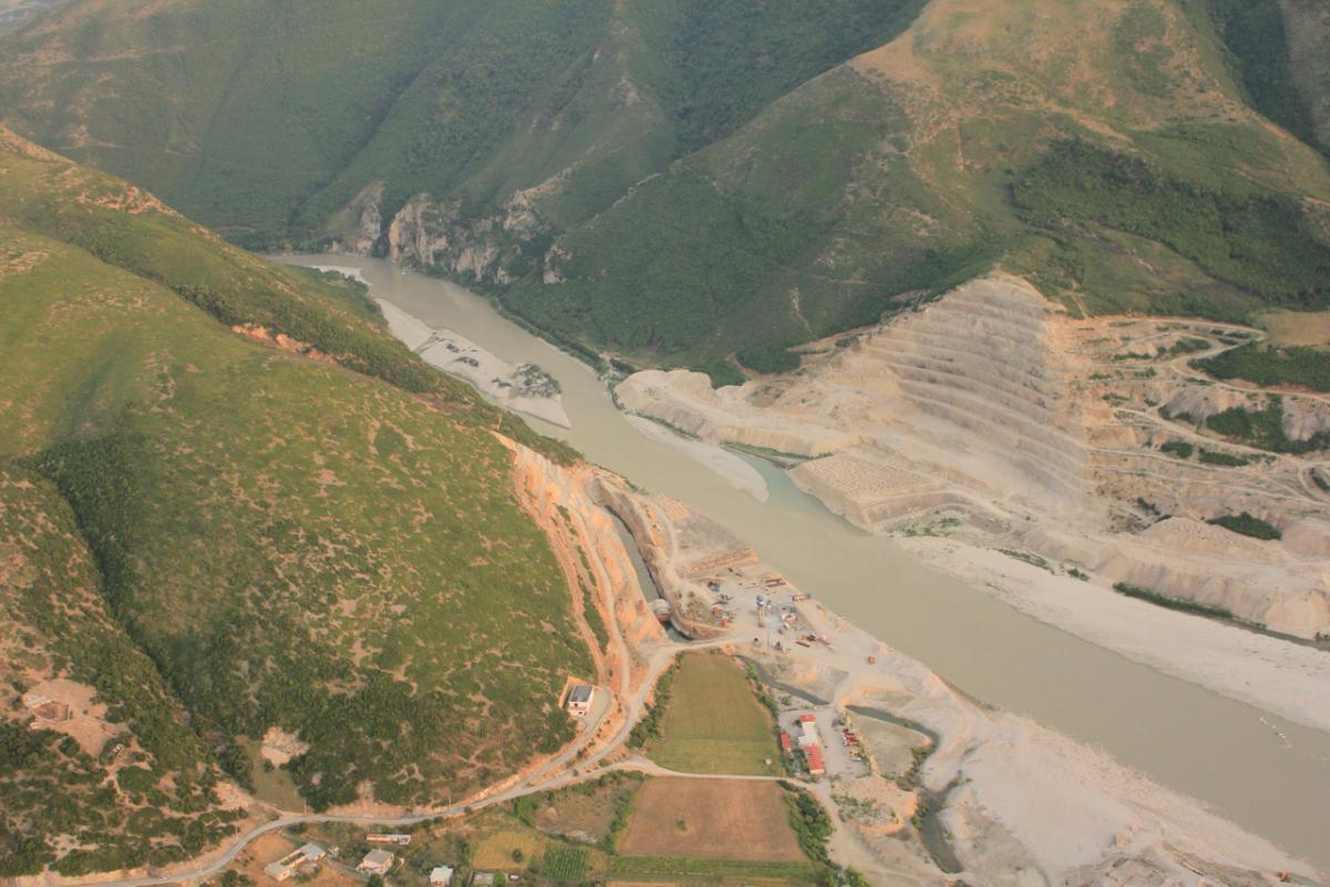 The entire river stretch below the future Kalivaç dam – 100 km in length – would be impacted by erosion and altered hydrology. © Roland Dorozhani